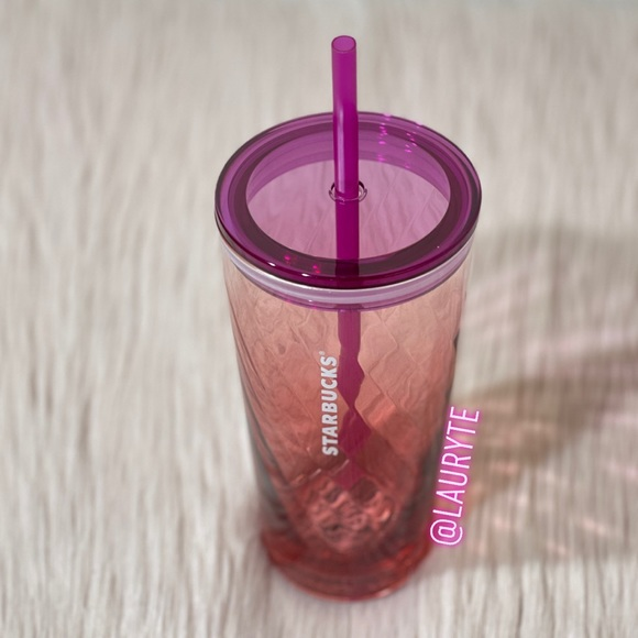 Starbucks 2021 Spring Pink Purple Glass Tumbler